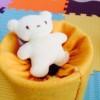 赤ちゃんの手作りおもちゃ 粉ミルク缶で飛び出すぬいぐるみ