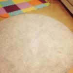 子どもの遊び場 プレイマットとラグ、フローリングと畳のゾーンわけ