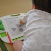 2カラー「せんせい」届きました。9ヶ月、初めてのお絵描きボード