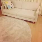 我が家にほどよい新しいラグ。IKEAのアイボリーラグが冬にいい