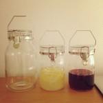 自家製シロップ 梅シロップ・レモンシロップ・3種のベリーシロップのレシピとつくりかた。